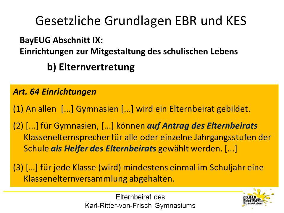 Gesetzliche Grundlagen EBR und KES