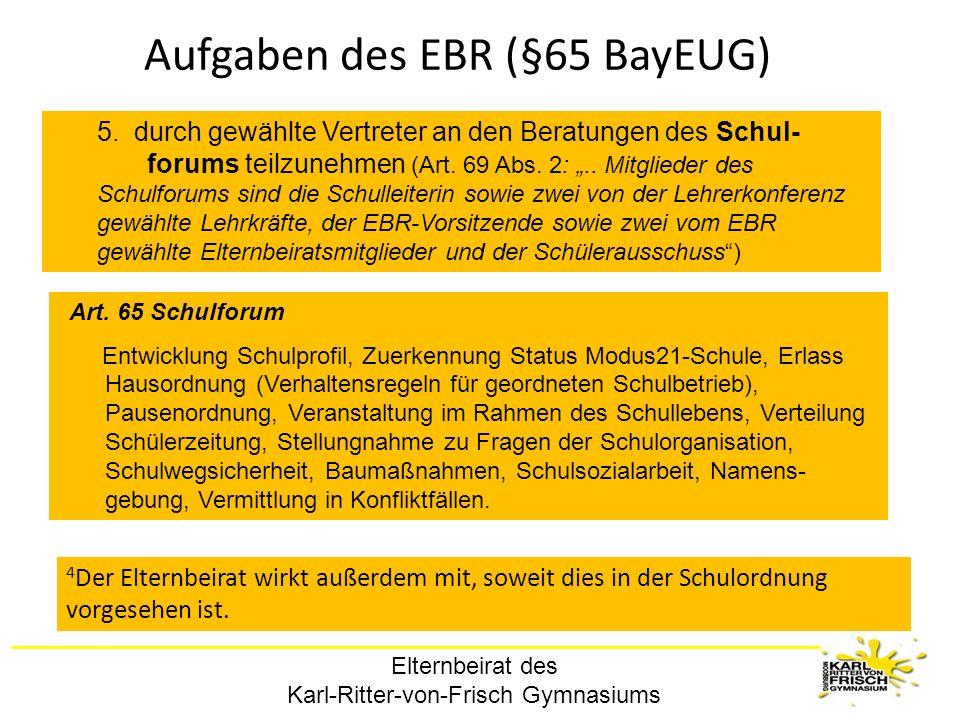 Aufgaben des EBR (§65 BayEUG)