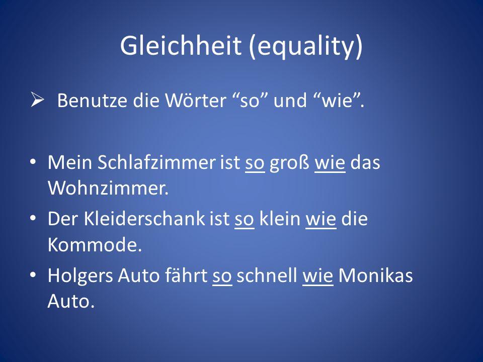 Gleichheit (equality)