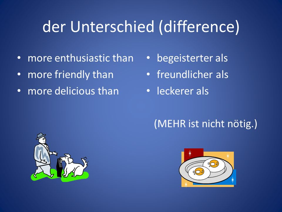 der Unterschied (difference)