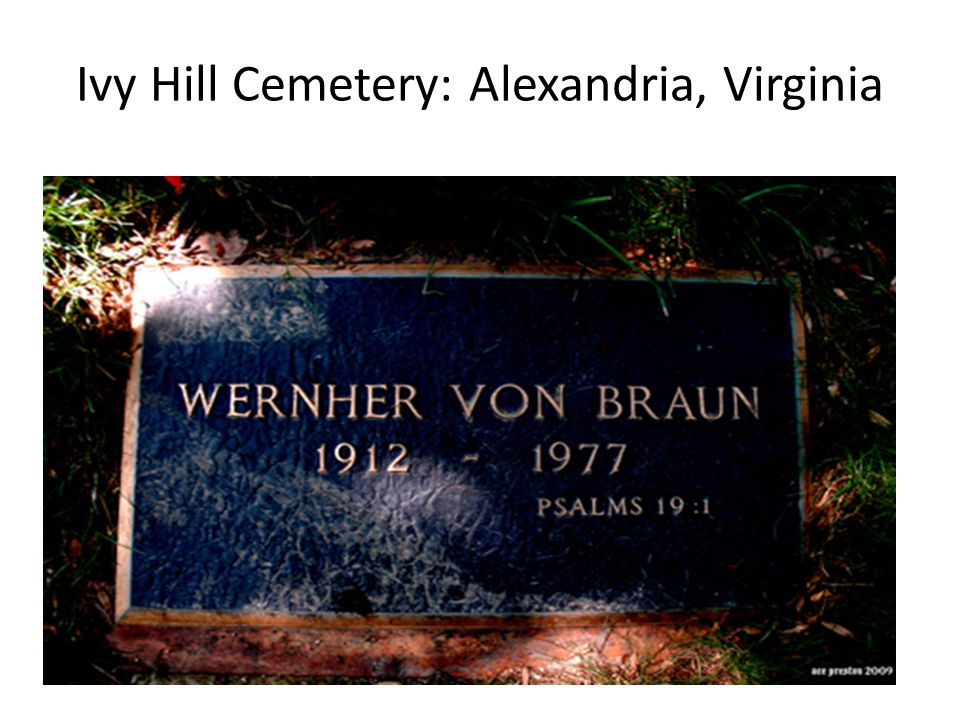 Ivy Hill Cemetery: Alexandria, Virginia