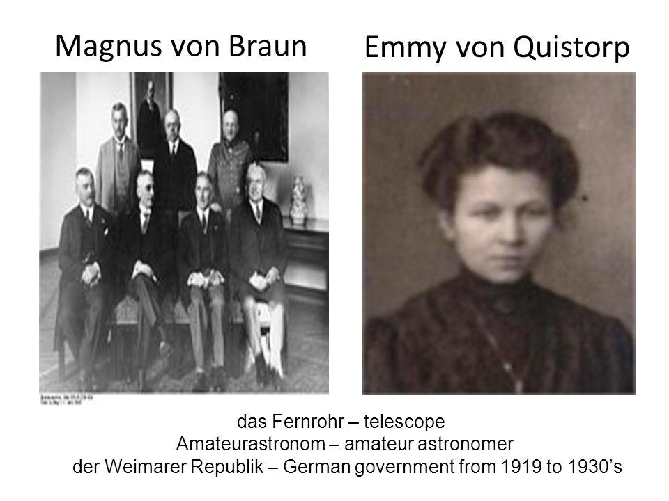 Magnus von Braun Emmy von Quistorp
