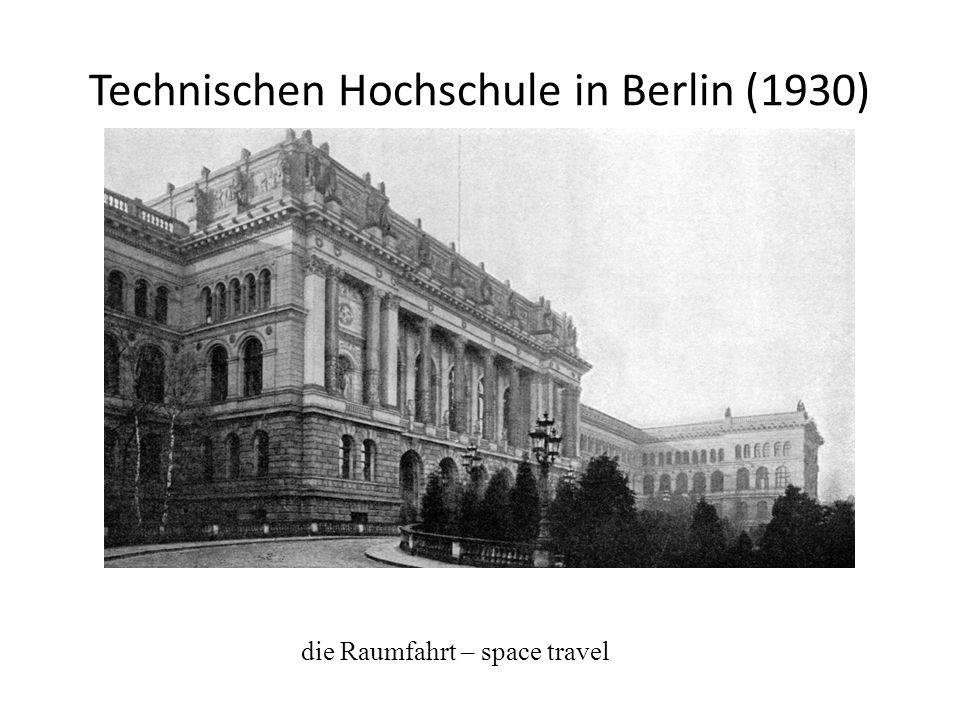 Technischen Hochschule in Berlin (1930)
