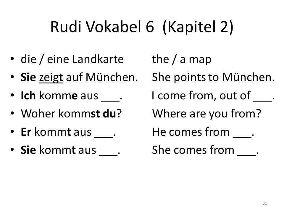 Rudi Vokabel 6 (Kapitel 2)