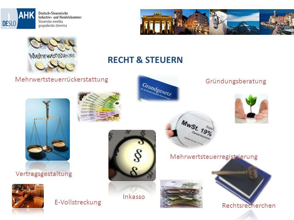 RECHT & STEUERN Mehrwertsteuerrückerstattung Gründungsberatung