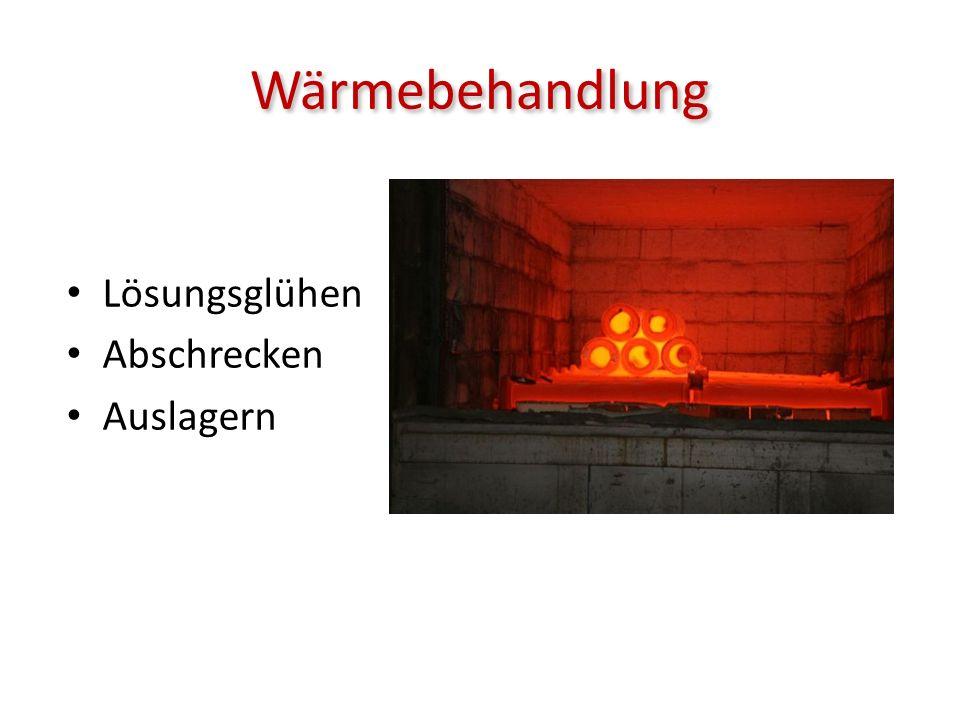 Wärmebehandlung Lösungsglühen Abschrecken Auslagern