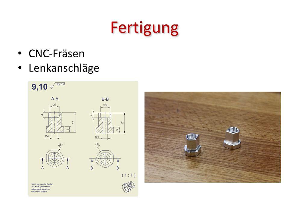 Fertigung CNC-Fräsen Lenkanschläge