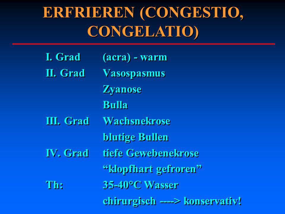 ERFRIEREN (CONGESTIO, CONGELATIO)