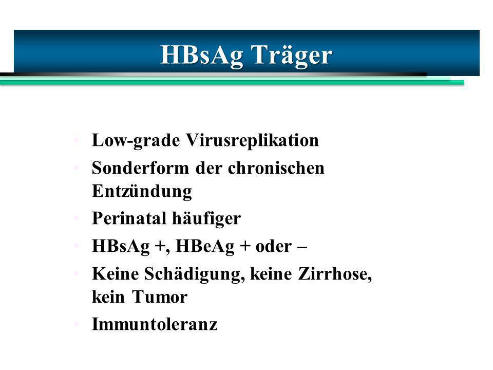 HBsAg Träger Low-grade Virusreplikation