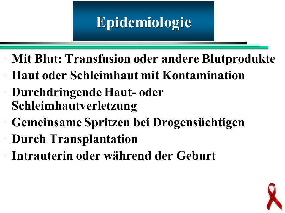 Epidemiologie Mit Blut: Transfusion oder andere Blutprodukte