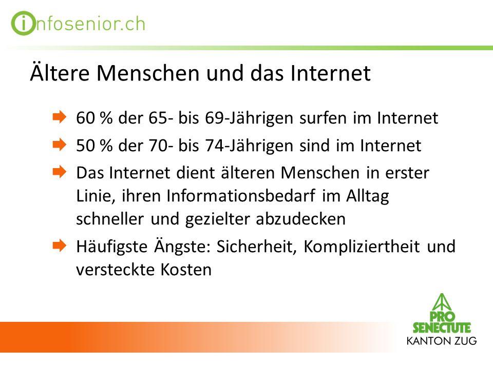 Ältere Menschen und das Internet