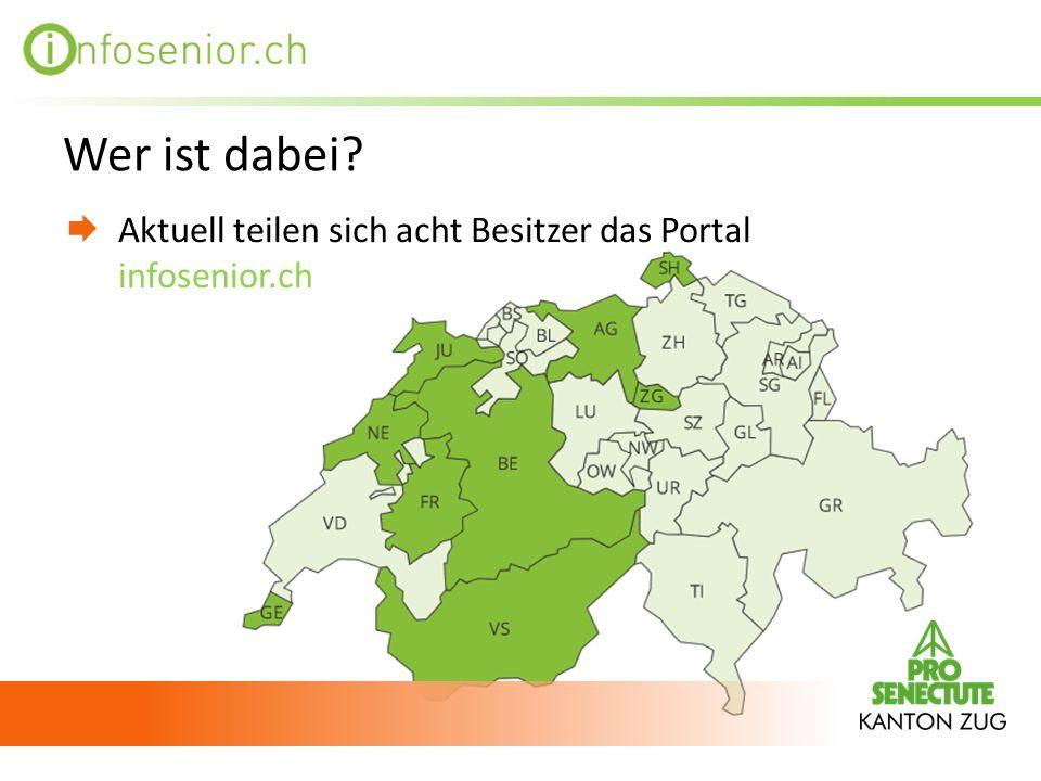 Wer ist dabei Aktuell teilen sich acht Besitzer das Portal infosenior.ch