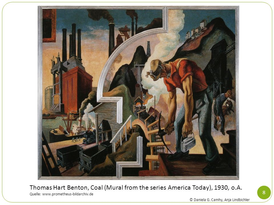 Thomas Hart Benton, Coal (Mural from the series America Today), 1930, o.A.