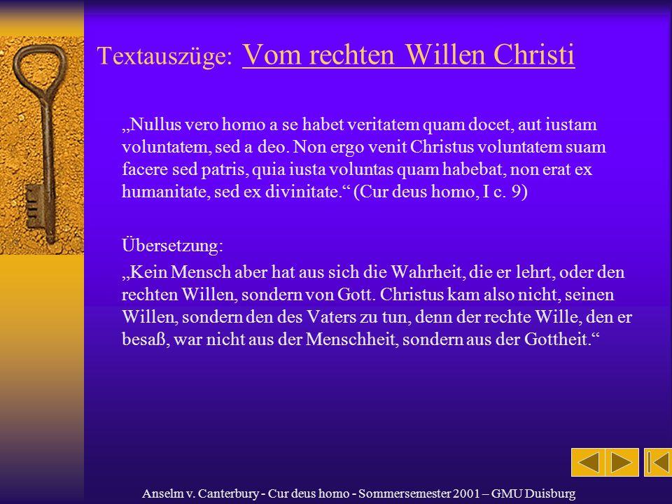 Textauszüge: Vom rechten Willen Christi