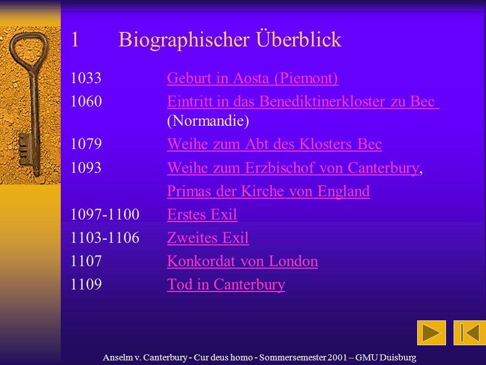 1 Biographischer Überblick