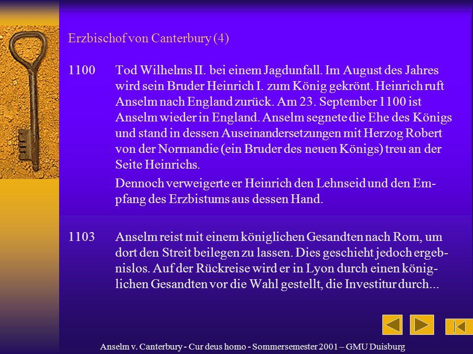 Erzbischof von Canterbury (4)