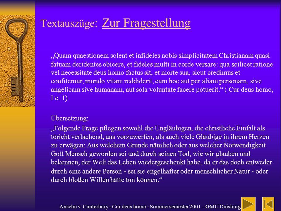 Textauszüge: Zur Fragestellung