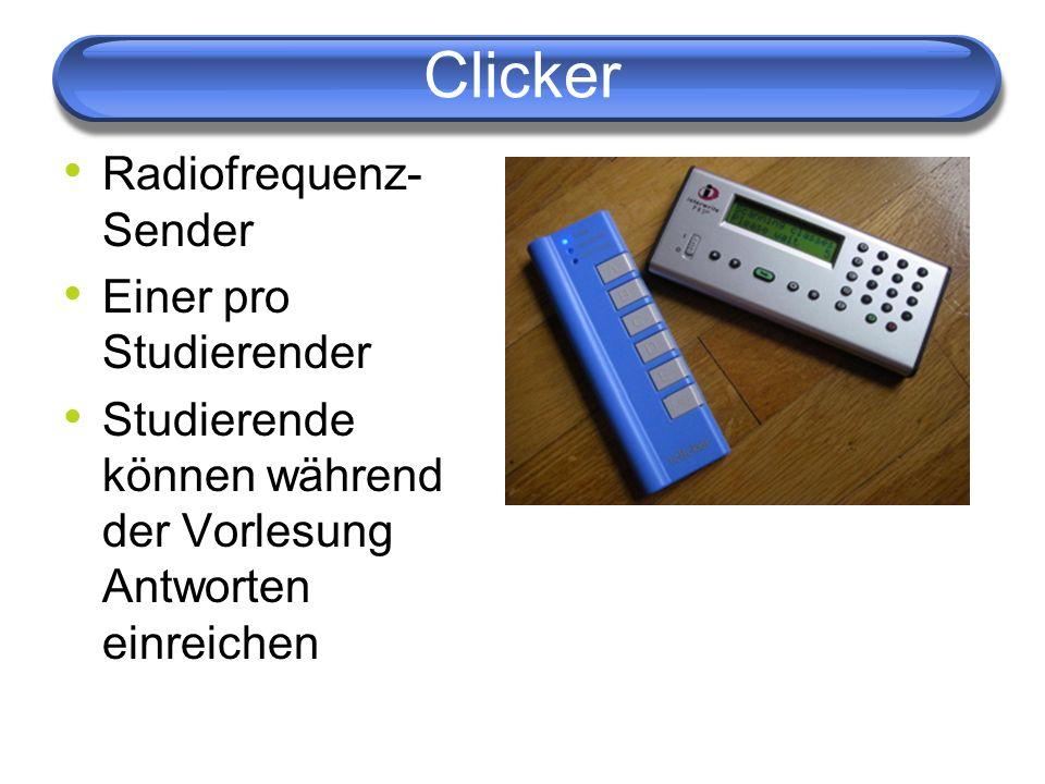 Clicker Radiofrequenz- Sender Einer pro Studierender
