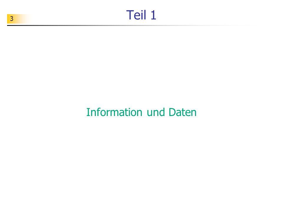 Teil 1 Information und Daten