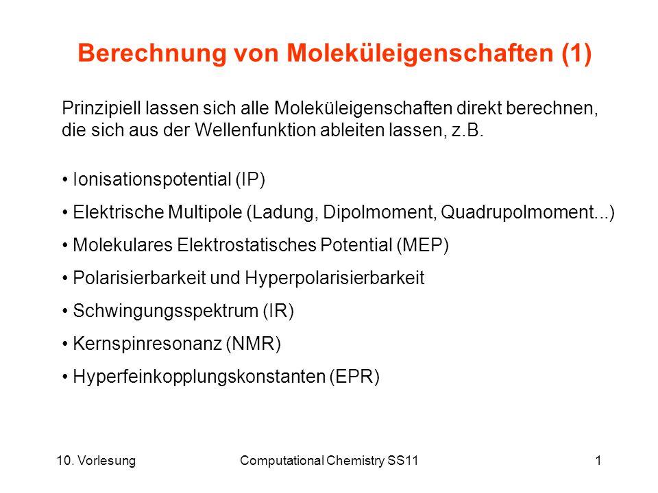 Berechnung von Moleküleigenschaften (1)
