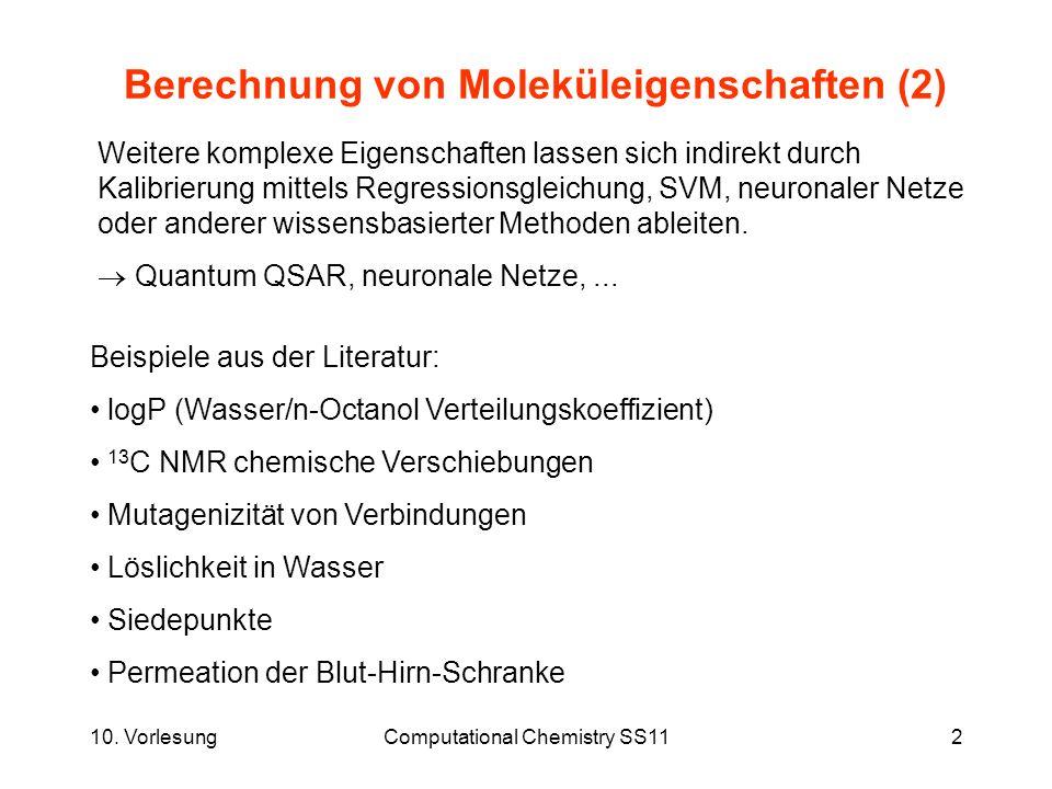 Berechnung von Moleküleigenschaften (2)