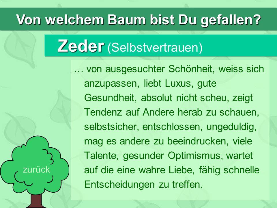 Zeder (Selbstvertrauen)