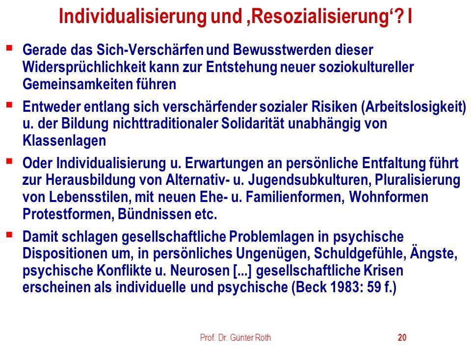 Individualisierung und 'Resozialisierung' I