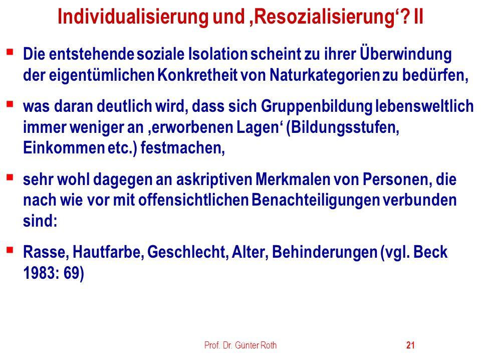 Individualisierung und 'Resozialisierung' II