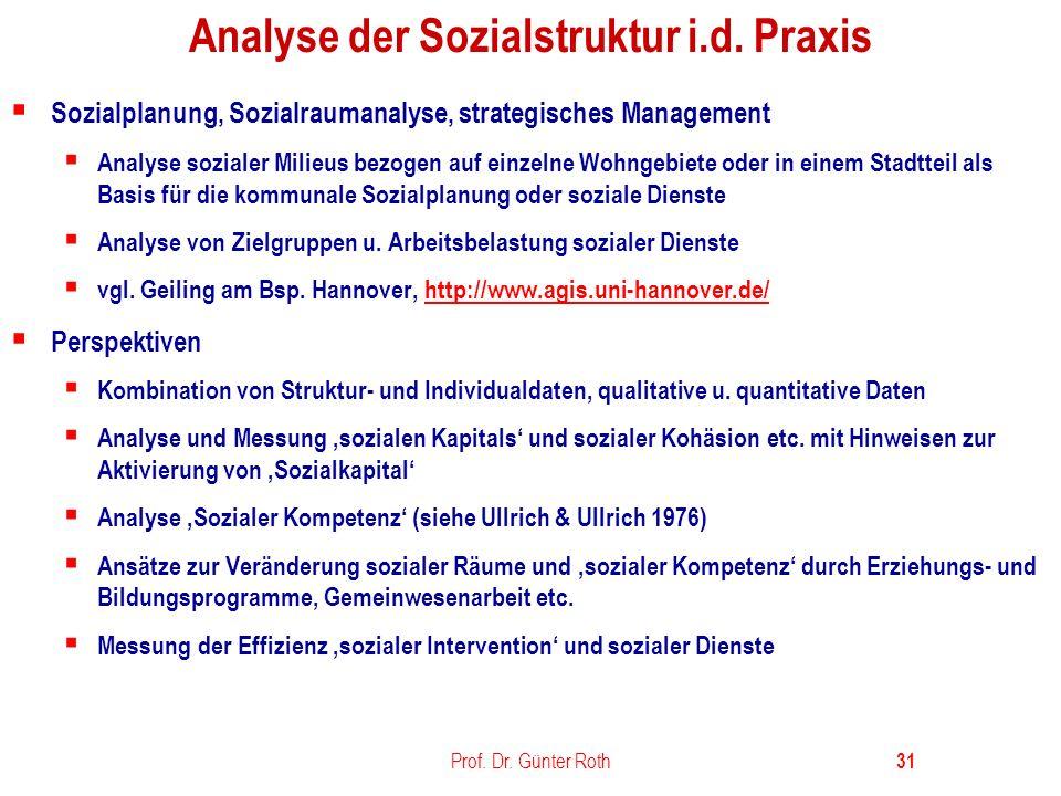 Analyse der Sozialstruktur i.d. Praxis