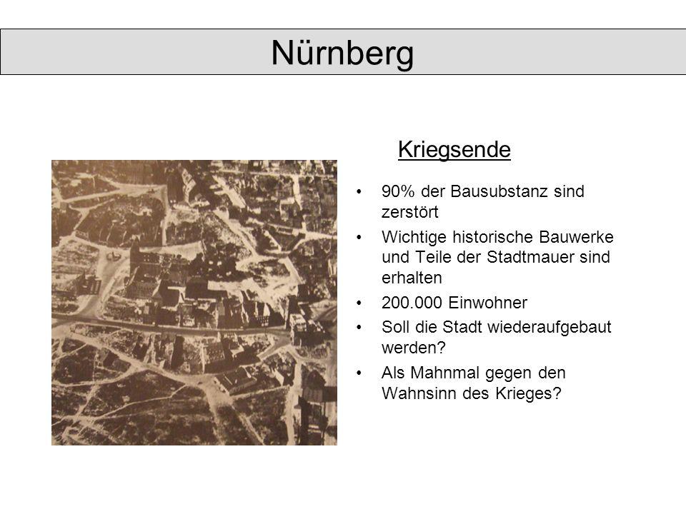 Nürnberg Kriegsende 90% der Bausubstanz sind zerstört