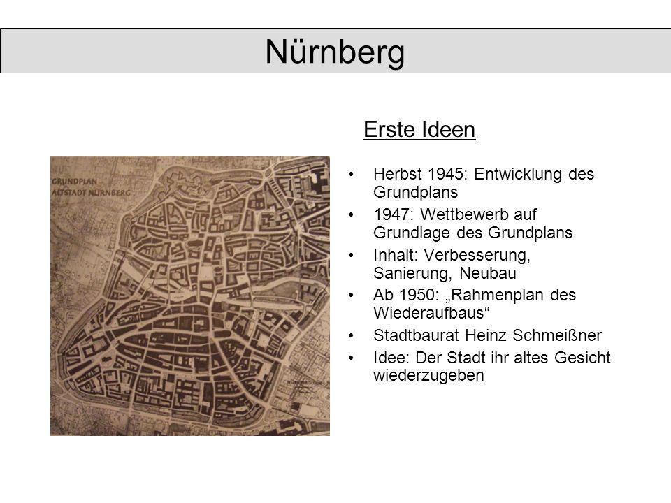 Nürnberg Erste Ideen Herbst 1945: Entwicklung des Grundplans