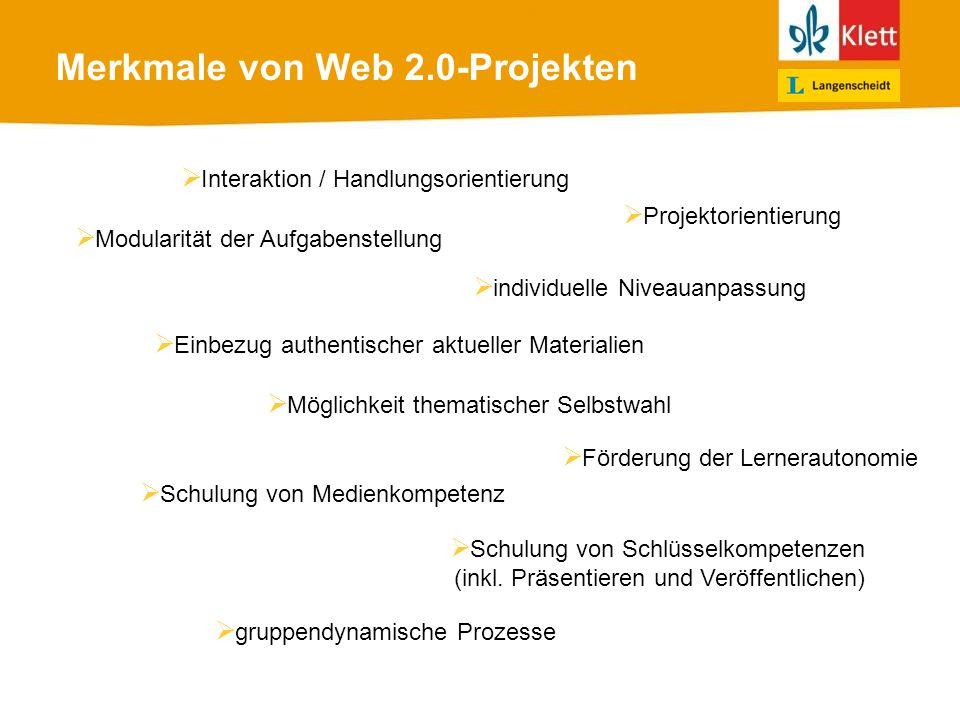 Merkmale von Web 2.0-Projekten