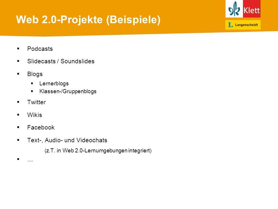 Web 2.0-Projekte (Beispiele)