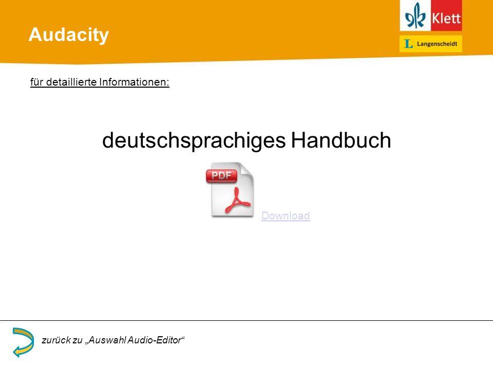 deutschsprachiges Handbuch