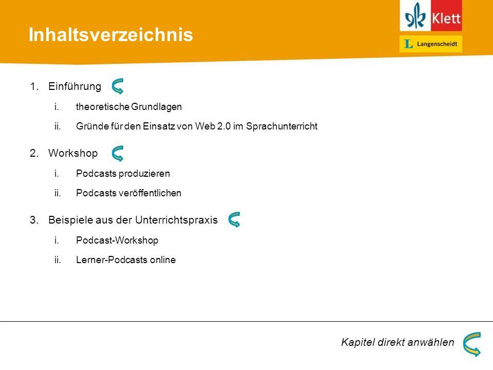 Inhaltsverzeichnis Einführung Workshop