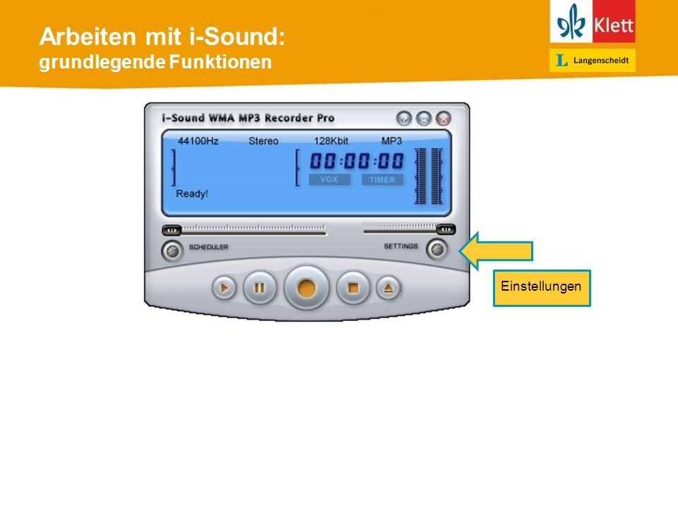 Arbeiten mit i-Sound: grundlegende Funktionen