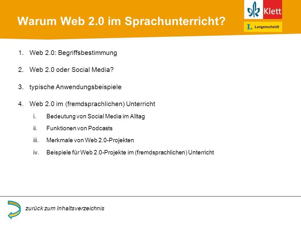Warum Web 2.0 im Sprachunterricht