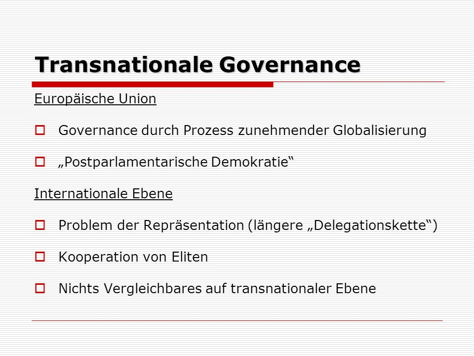 Transnationale Governance