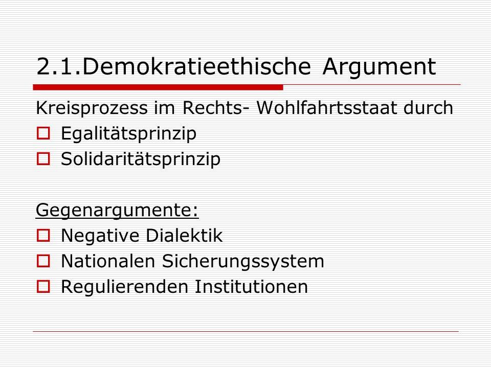 2.1.Demokratieethische Argument
