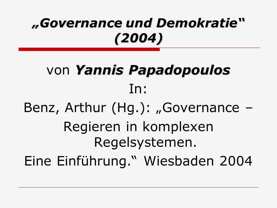 """""""Governance und Demokratie (2004)"""