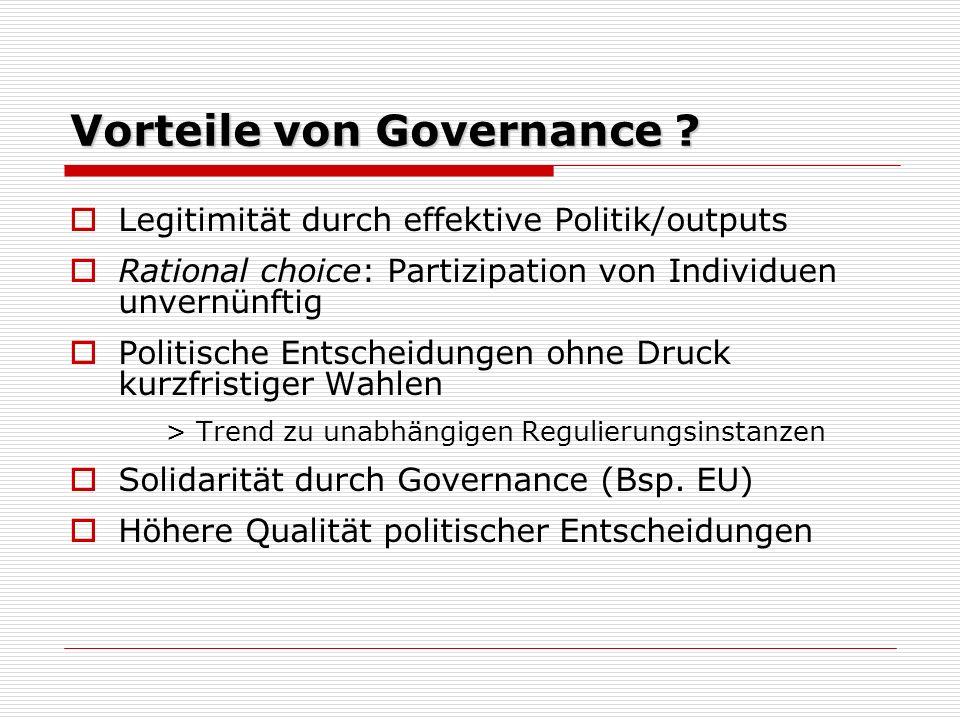 Vorteile von Governance