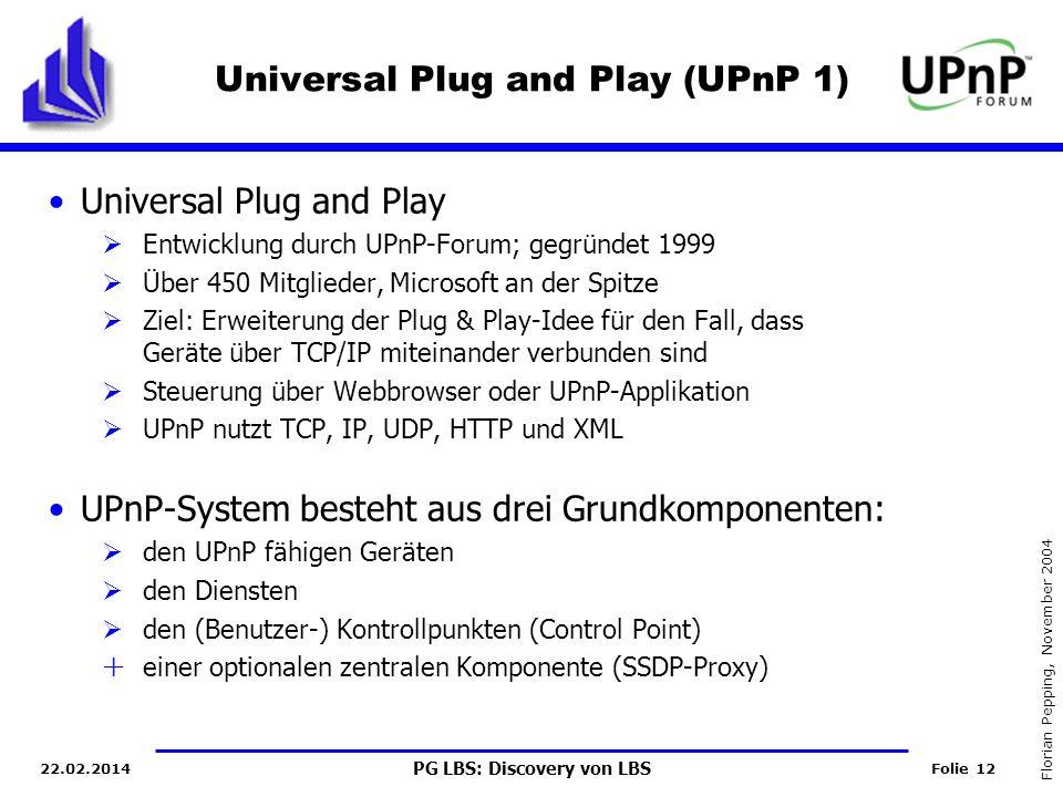 Universal Plug and Play (UPnP 1)