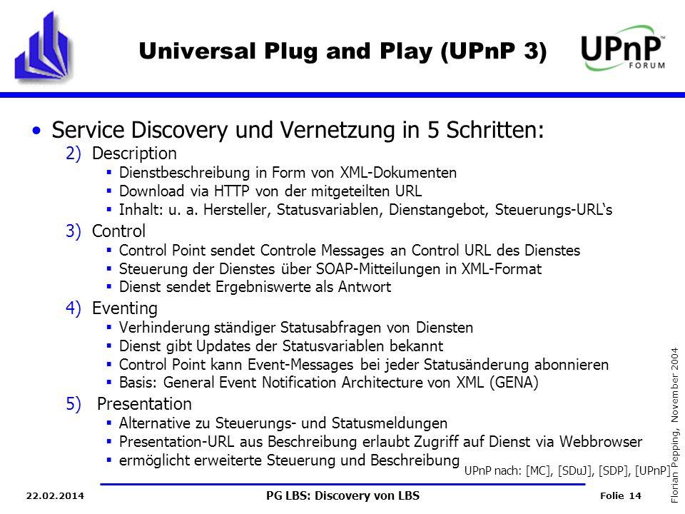 Universal Plug and Play (UPnP 3)