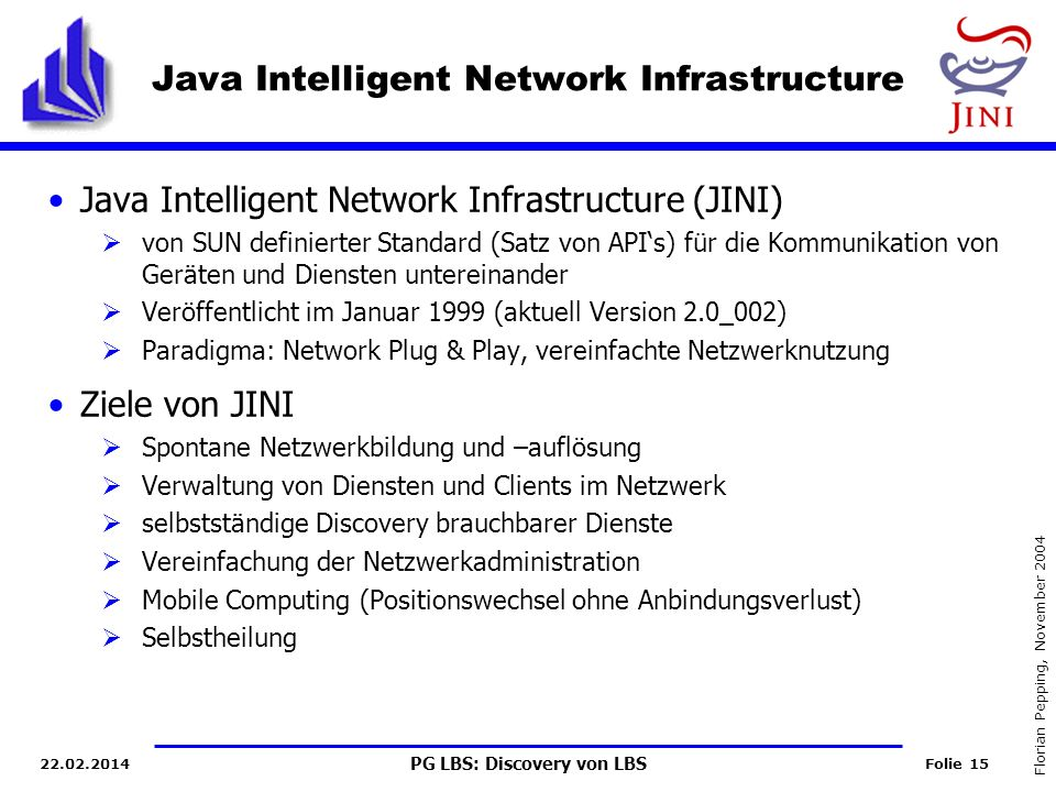 Java Intelligent Network Infrastructure