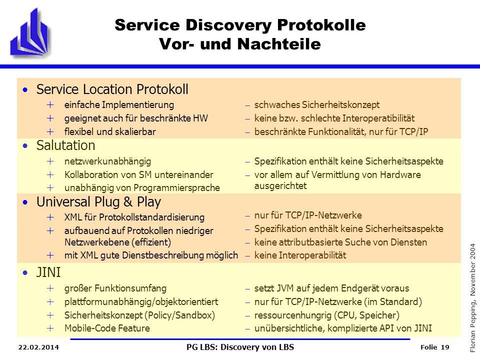 Service Discovery Protokolle Vor- und Nachteile