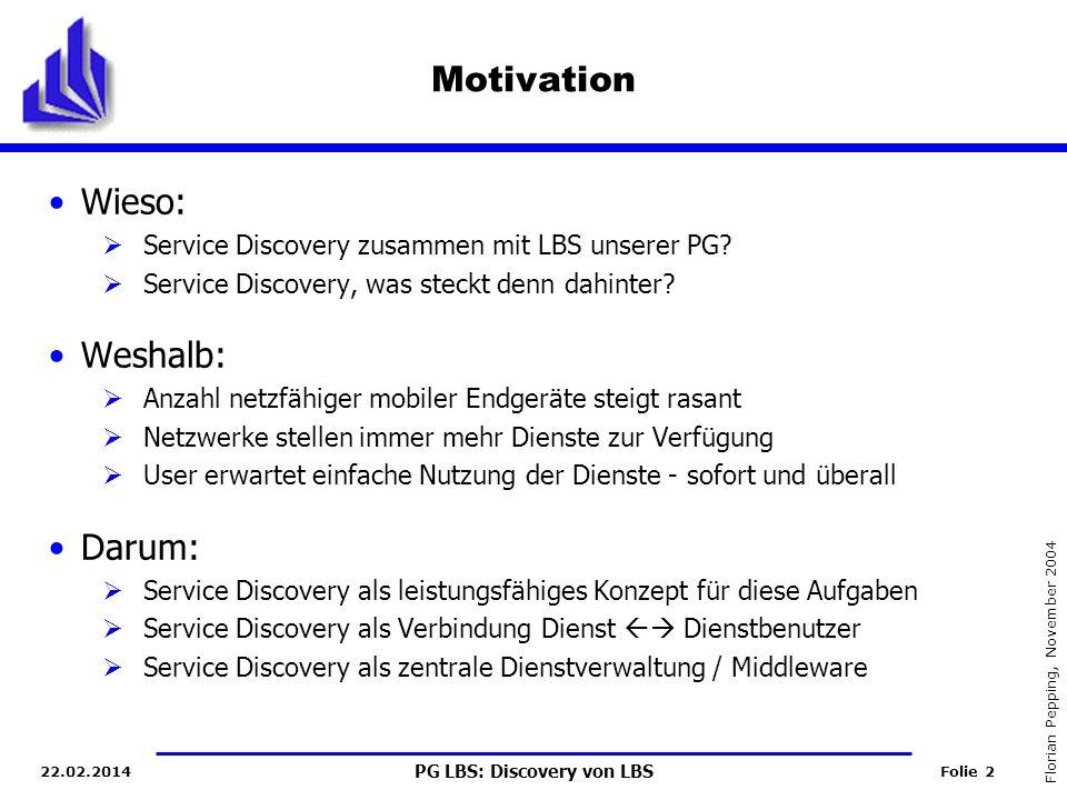 Motivation Wieso: Weshalb: Darum: