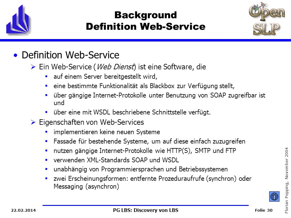 Background Definition Web-Service