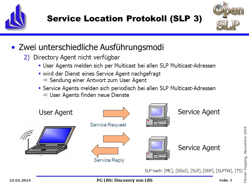 Service Location Protokoll (SLP 3)