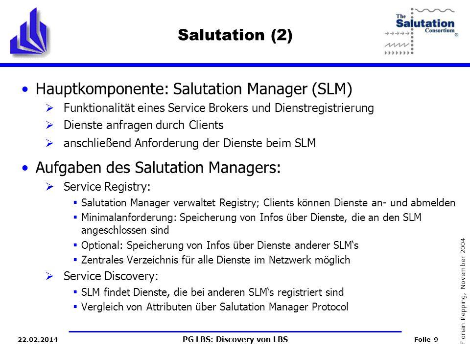 Hauptkomponente: Salutation Manager (SLM)