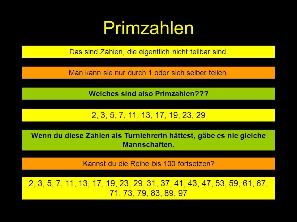 Welches sind also Primzahlen
